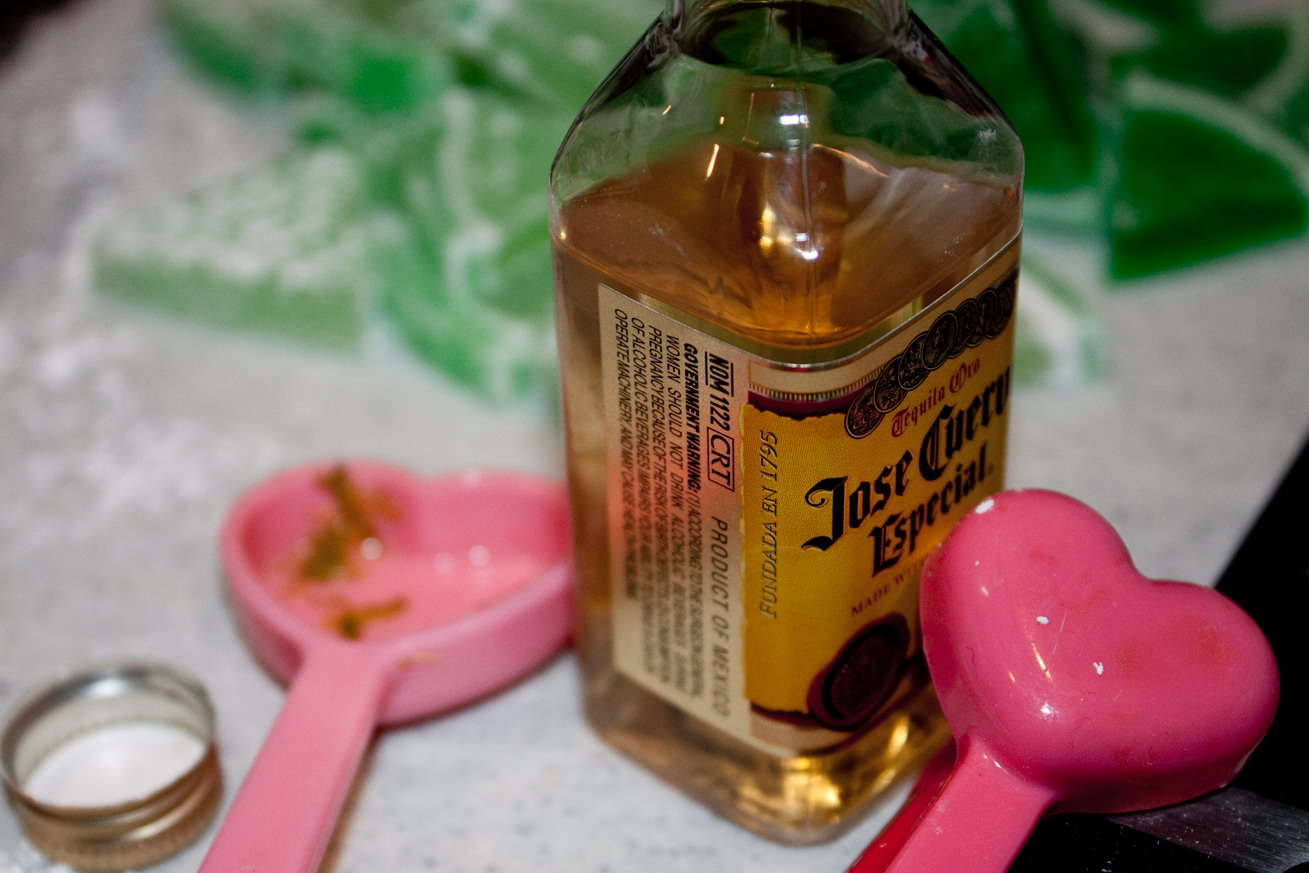 tequila teaspoons for the frosting