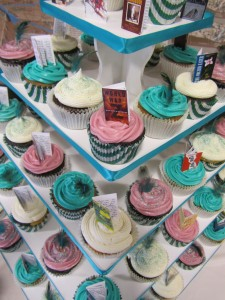 Wedding Tower - Cupcakes with Books